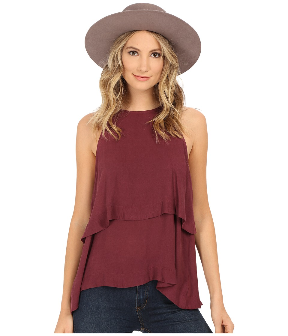 Free People - Layers In Love Tunic (Plum) Women's Clothing