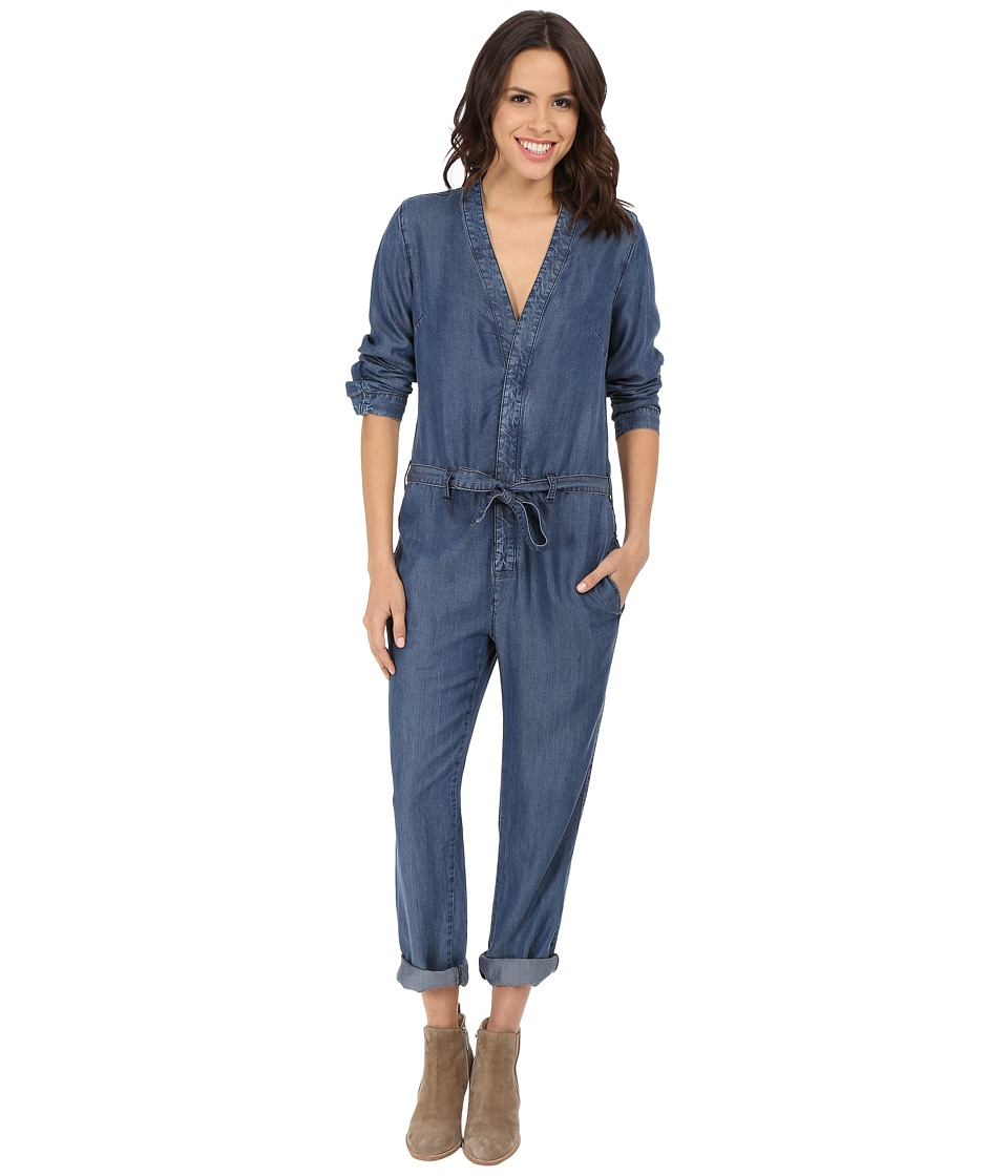 Free People - Lou Denim One-Piece in Imperial (Imperial) Women's Jumpsuit & Rompers One Piece