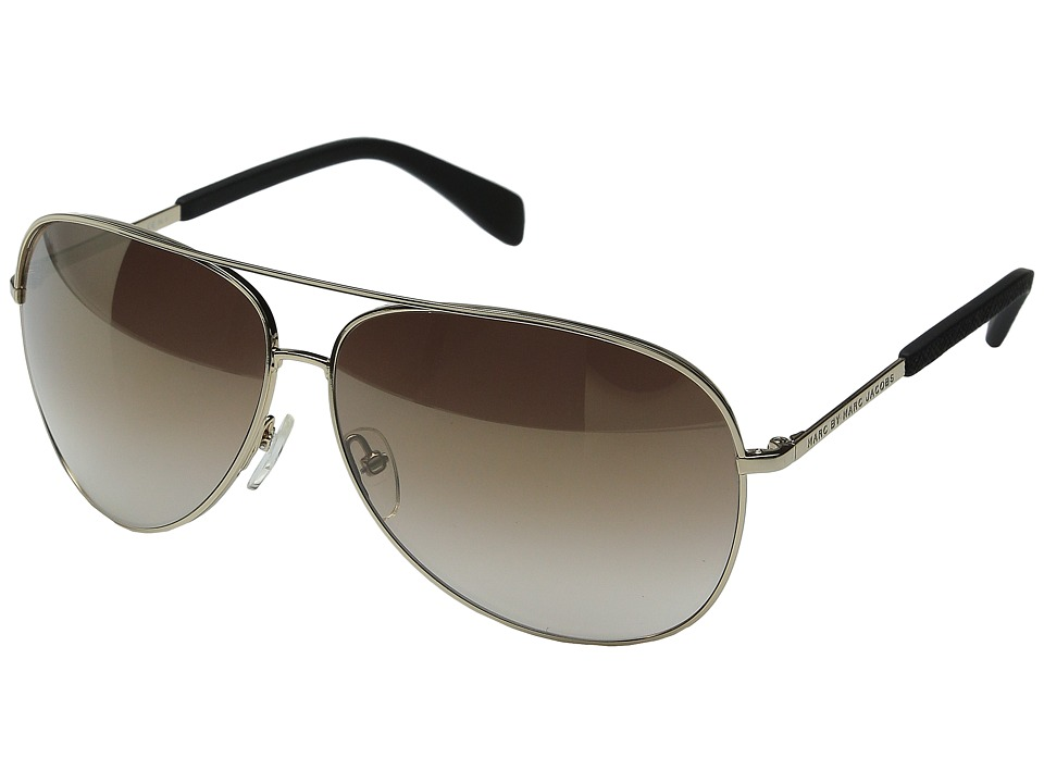 Marc by Marc Jacobs - MMJ 484/S (Gold/Brown Mirror Gold Shade) Fashion Sunglasses