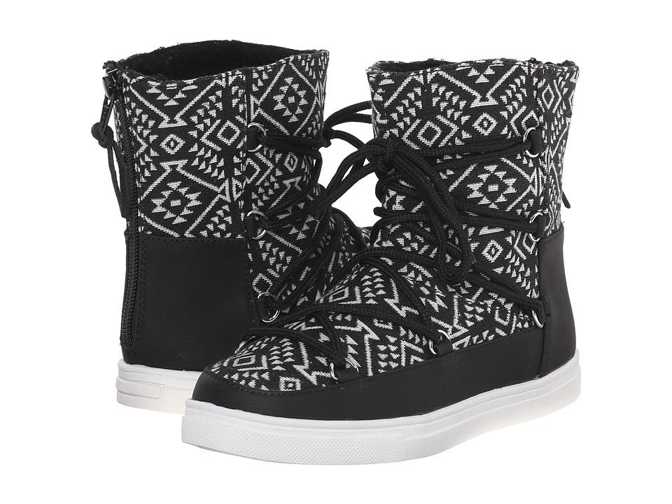 Dolce Vita Kids - Angelica (Little Kid/Big Kid) (Black/White Fabric) Girl's Shoes