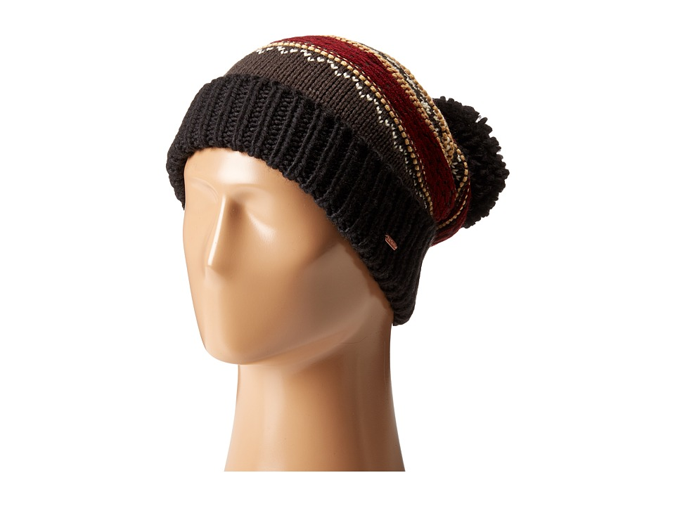 Free People - Snow Bound Pom Pom Beanie (Black Combo) Beanies