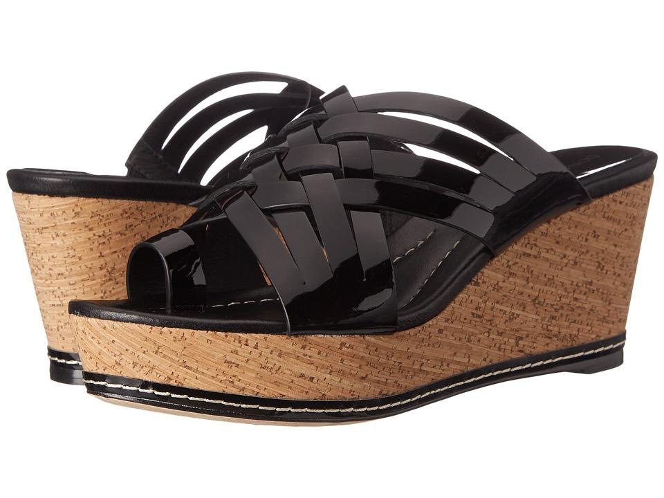 Donald J Pliner - Flore (Black Patent) Women's Wedge Shoes