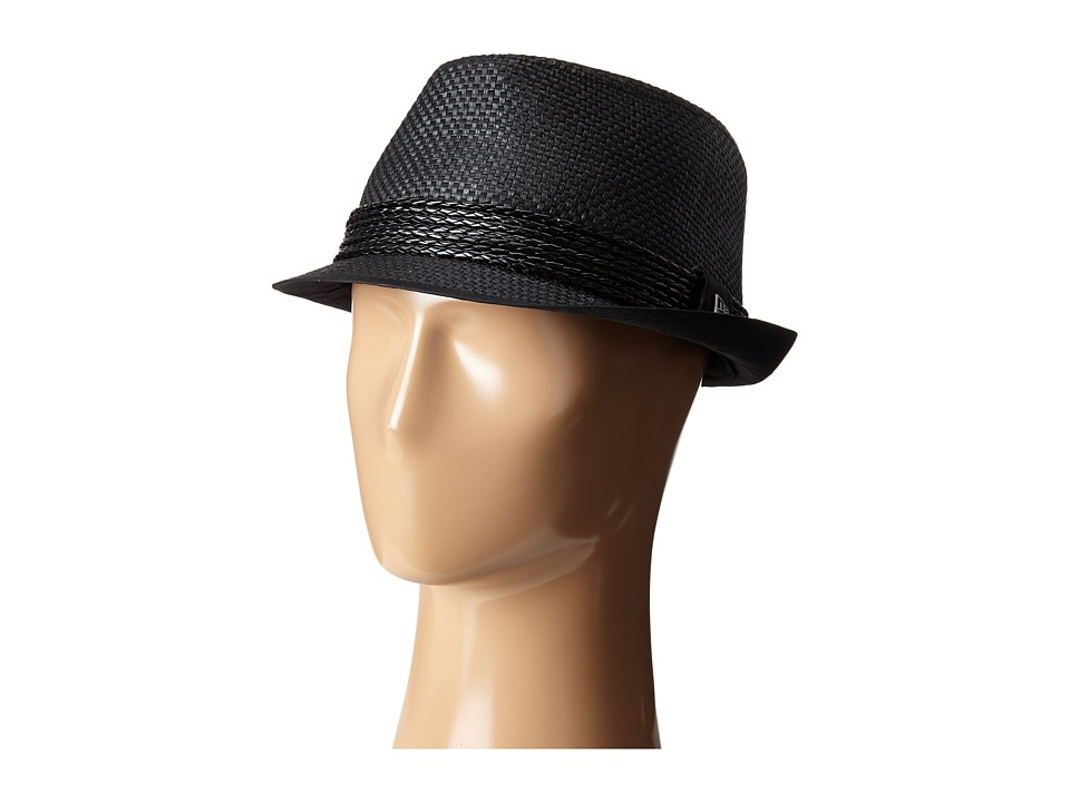 New Era - Straw Fedora (Black) Fedora Hats