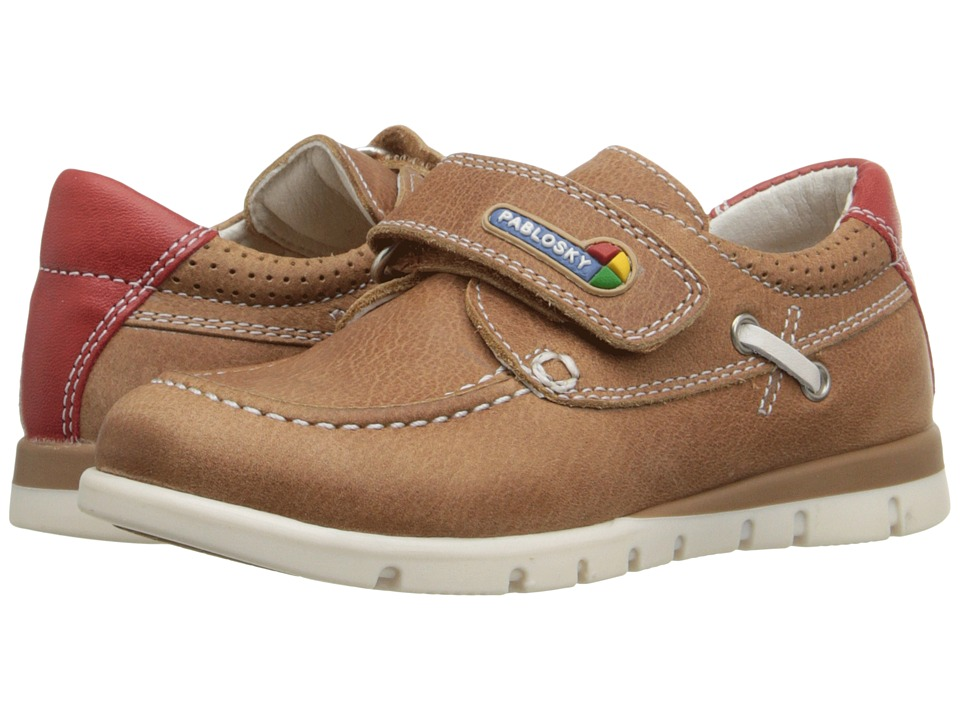 Pablosky Kids - 0810 (Toddler) (Tan) Boy's Shoes