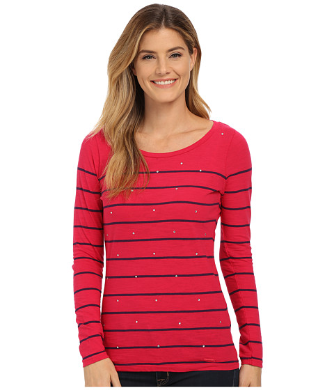 U.S. POLO ASSN. - Long Sleece Stripe and Sparkle Bling T-Shirt (Jazzy) Women's T Shirt