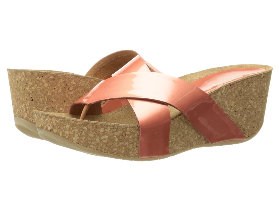 Donald J Pliner - Gallo (Coral Pearlized Patent) Women's Wedge Shoes