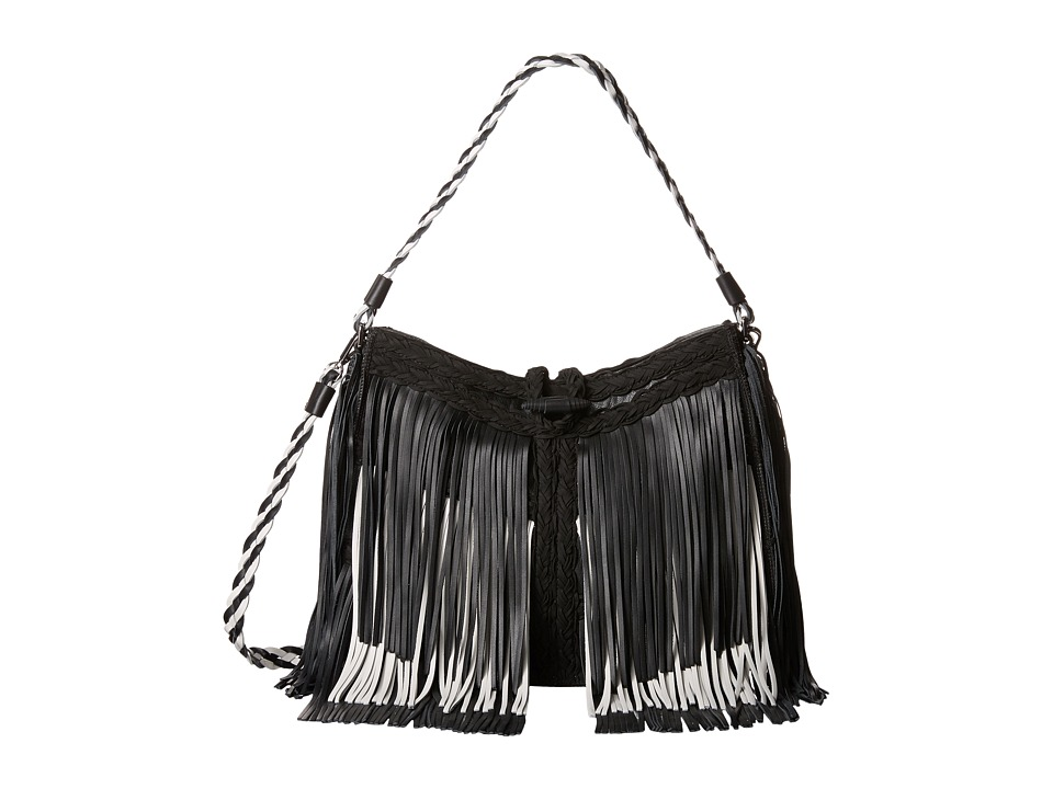 Sam Edelman - Sierra (Black/White) Shoulder Handbags