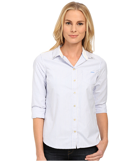 U.S. POLO ASSN. - Sparkle Collar Long Sleeve Oxford Shirt (Classic Blue) Women
