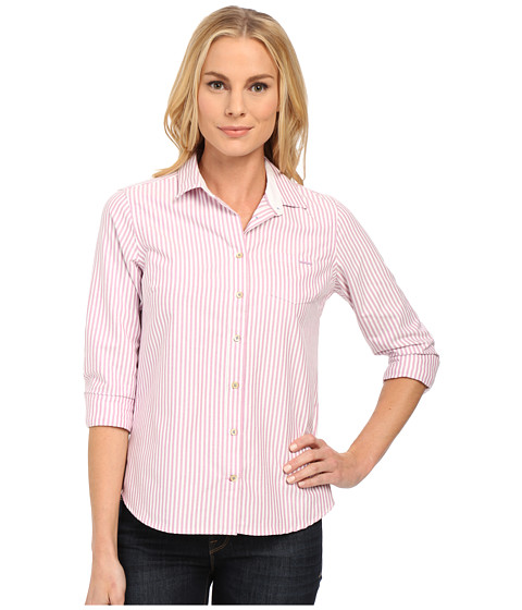 U.S. POLO ASSN. - Sparkle Collar Long Sleeve Oxford Shirt (Lavender Herb) Women