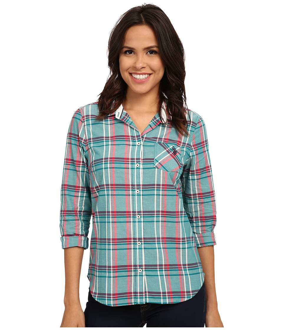 U.S. POLO ASSN. - Plaid Poplin Casual Shirt (Fanfare) Women's Clothing