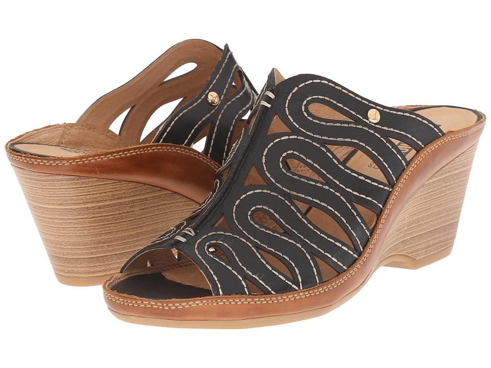Pikolinos - Capri W8F-0725 (Black/Brandy) Women's Slide Shoes