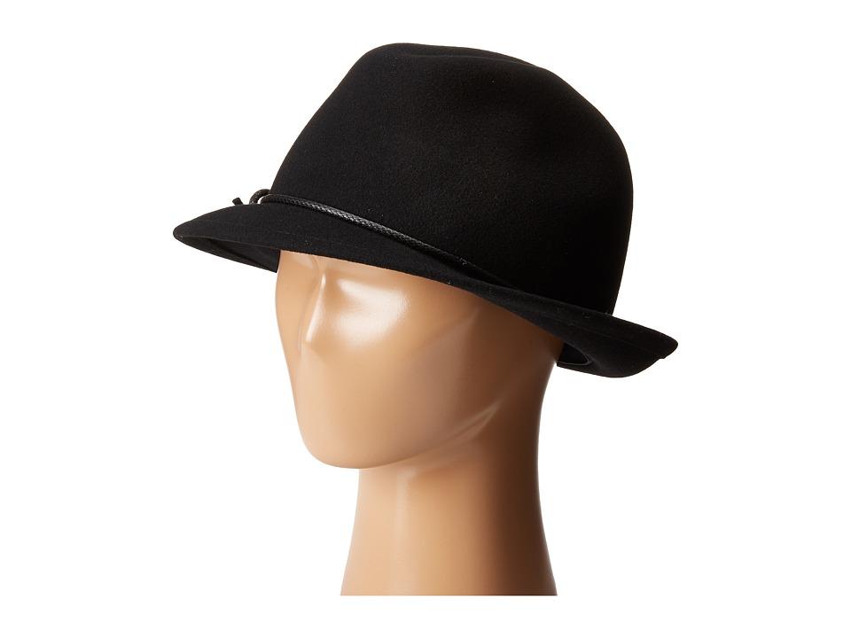 Karen Kane - Snapback Felt Fedora (Black) Fedora Hats