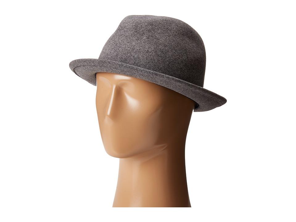 Karen Kane - Snapback Felt Fedora (Slate Mix) Fedora Hats