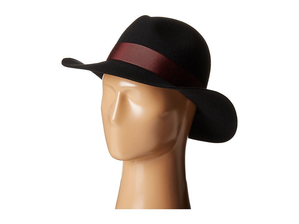 Karen Kane - Wide Brim Fedora (Black) Fedora Hats