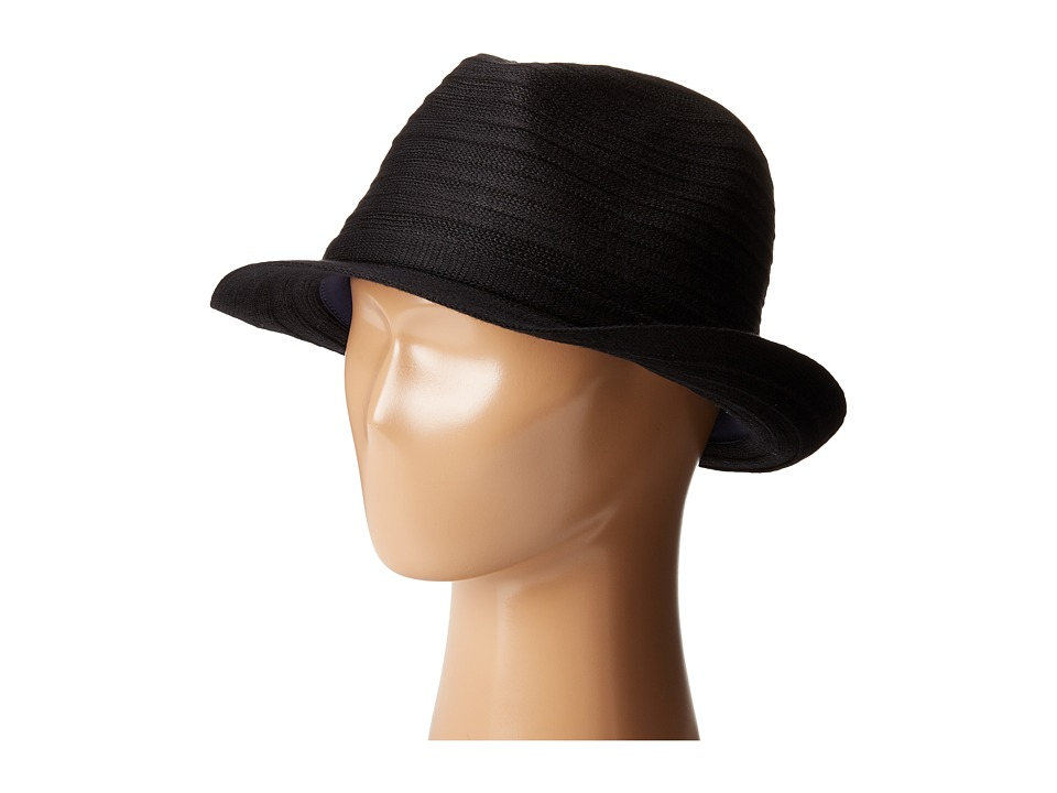 Karen Kane - Lux Braid Fedora (Black) Fedora Hats