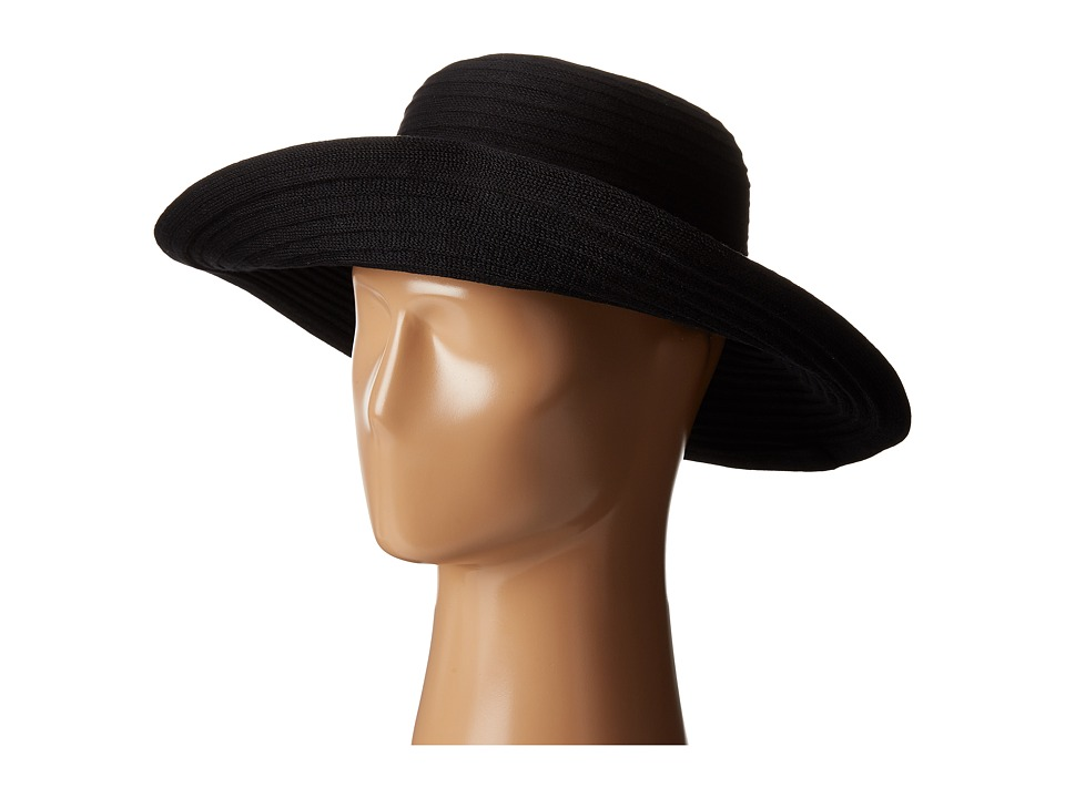Karen Kane - Lux Braid Wide Brim Floppy (Black) Caps