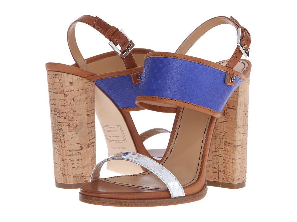 DSQUARED2 Sandal (Blue Elettrico Ayers Sughero) High Heels