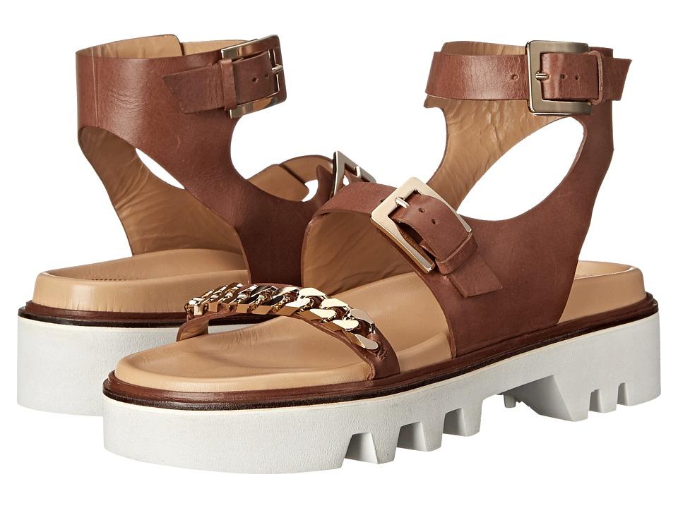 DSQUARED2 - Flat Sandal (Bruciato Vacchetta Veg) Women's Sandals