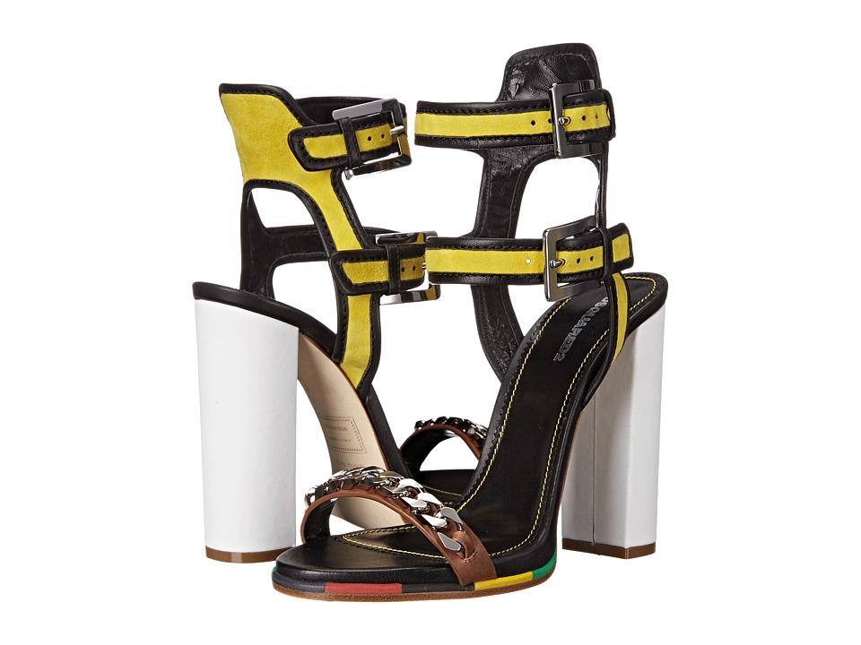 DSQUARED2 - Sandal (Giallo Nero Camoscio Nappa Vacchetta) High Heels
