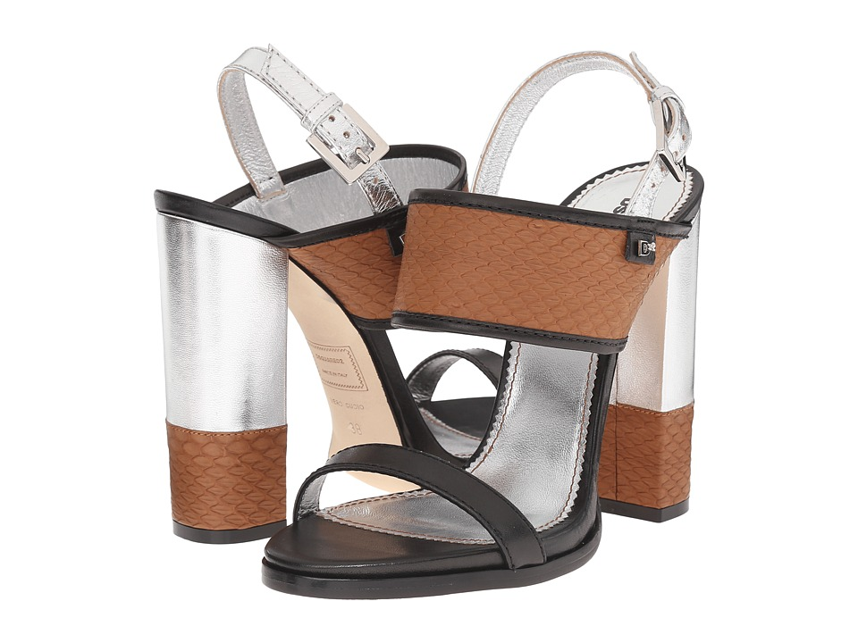 DSQUARED2 Sandal (Cuoio Argento Ayers Nappa) High Heels