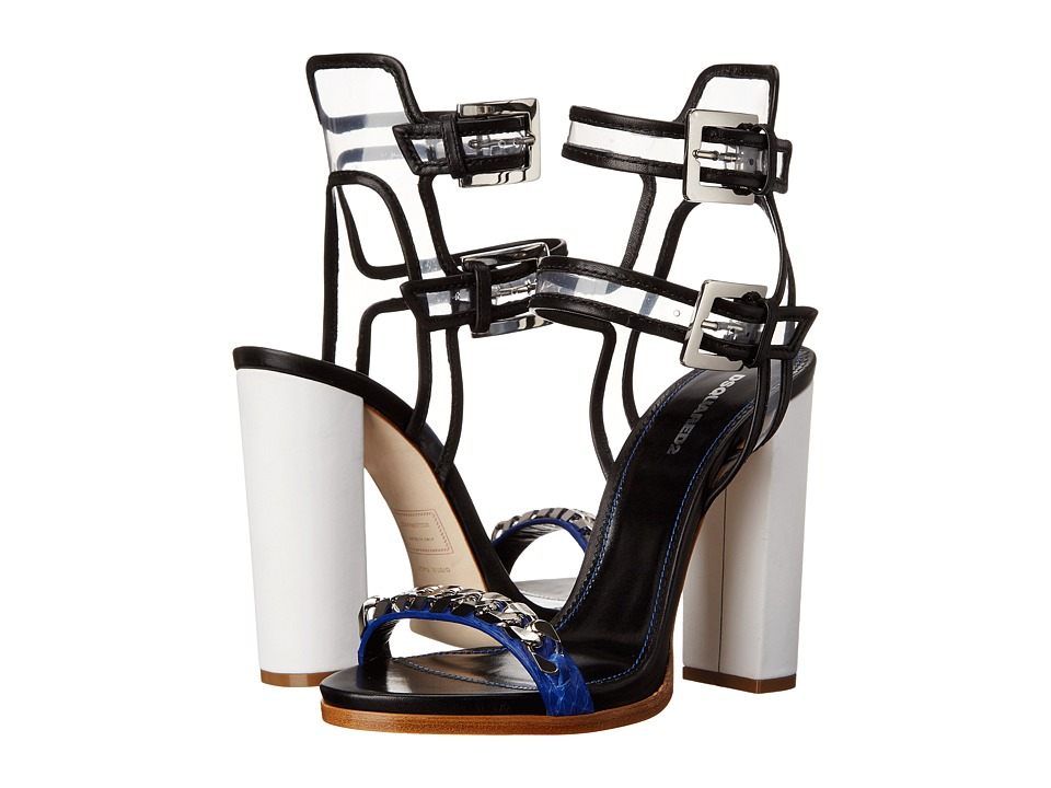 DSQUARED2 Sandal (Blue Nero Ayers PVC) High Heels