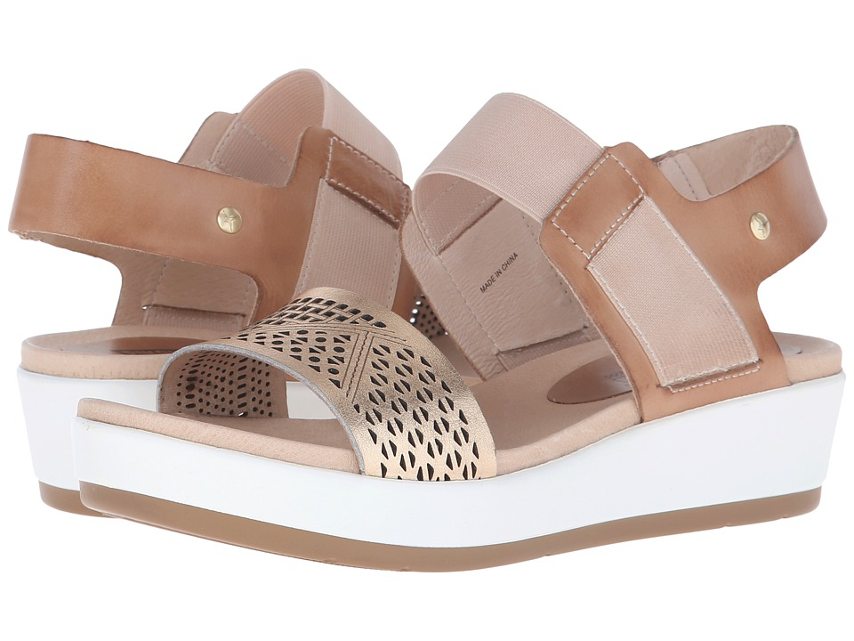 Pikolinos - Mykonos W1G-0759 (Nude/Golden Pink) Women's Wedge Shoes