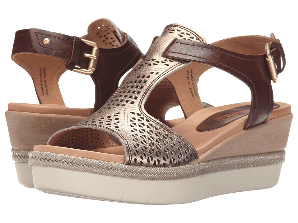 Pikolinos - Madeira W3G-0786C1 (Cacao/Onyx) Women's Wedge Shoes