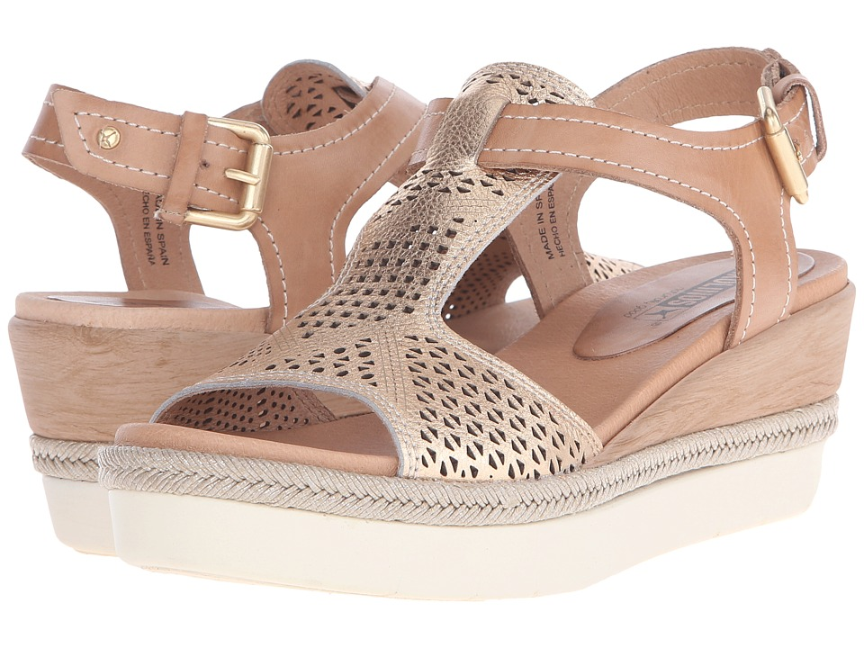 Pikolinos - Madeira W3G-0786C1 (Nude/Golden Pink) Women's Wedge Shoes