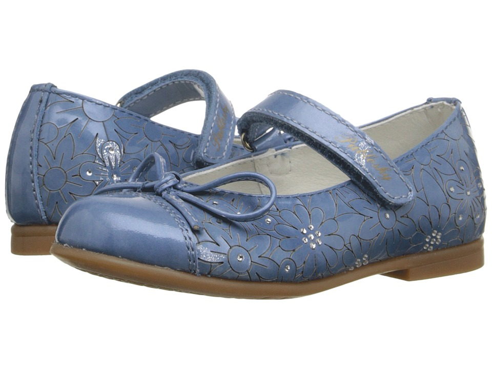 Pablosky Kids - 3148 (Toddler/Little Kid) (Jeans Patent) Girl's Shoes