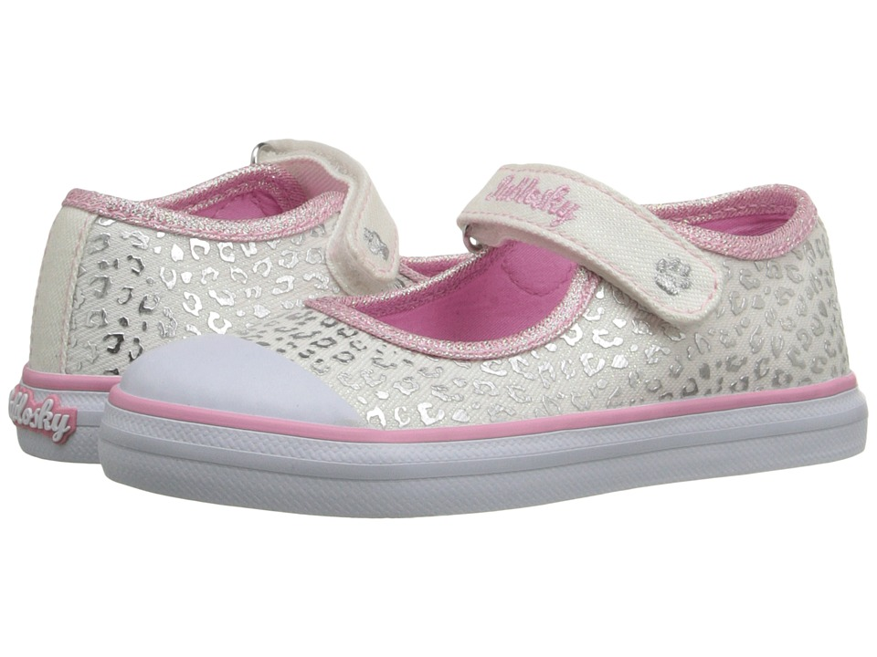 Pablosky Kids - 9320 (Toddler) (White Glitter) Girl's Shoes