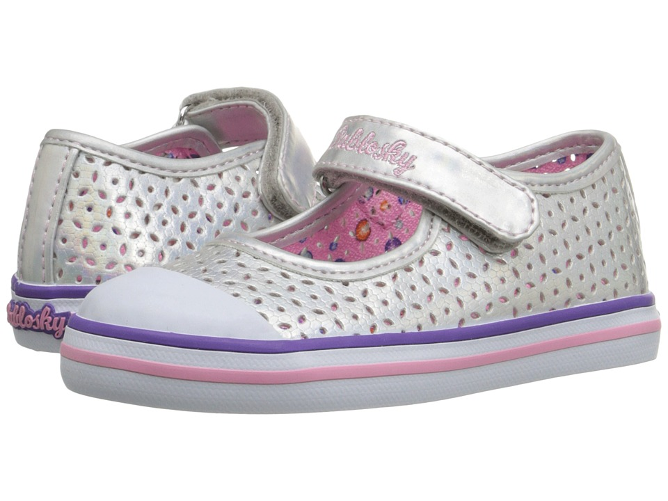 Pablosky Kids - 9311 (Toddler) (Silver Glitter) Girl's Shoes