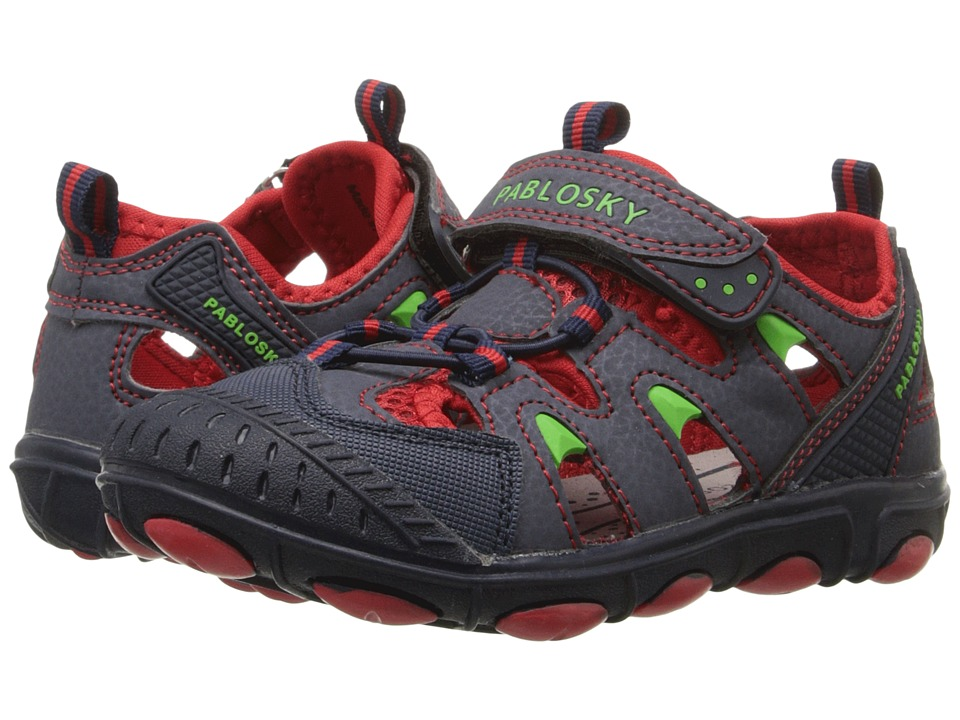 Pablosky Kids - 9354 (Little Kid/Big Kid) (Navy/Red) Boy's Shoes