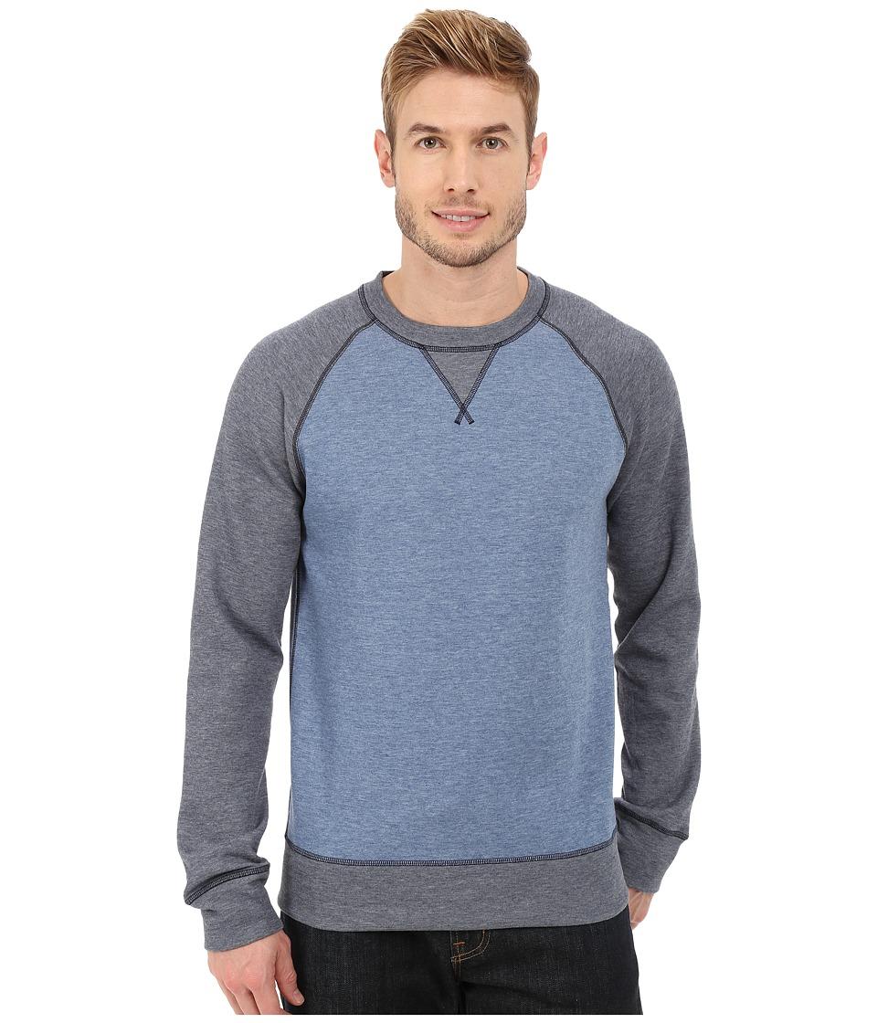 The North Face - Slacker Crew (Moonlight Blue Heather/TNF Dark Grey Heather) Men's Sweatshirt