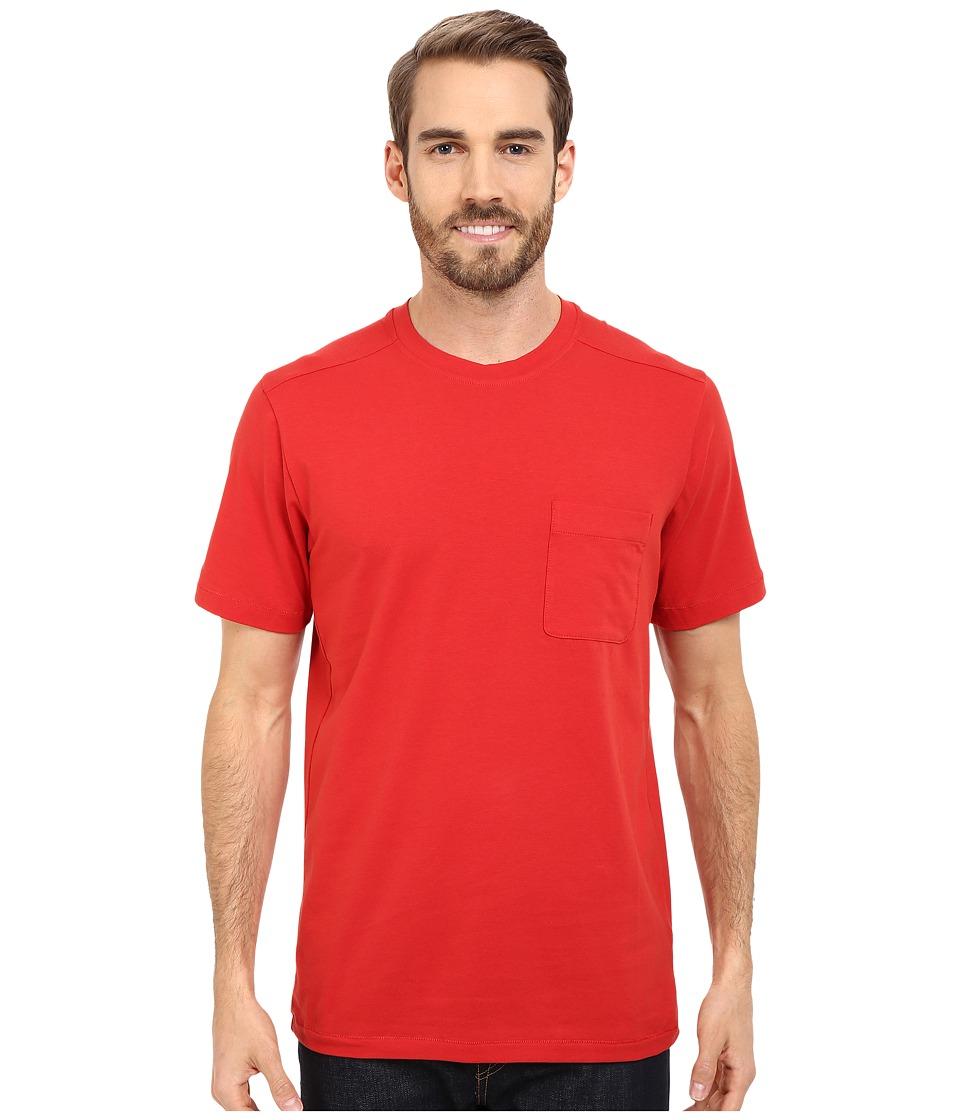 The North Face - Short Sleeve Alpine Start Tee (Pompeian Red) Men