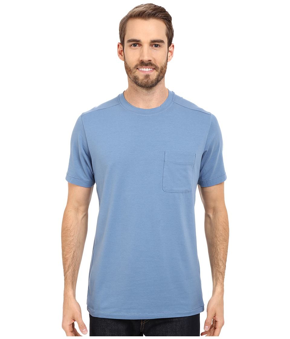 The North Face - Short Sleeve Alpine Start Tee (Moonlight Blue) Men