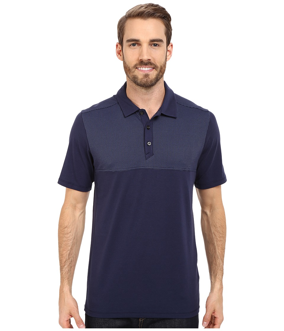 The North Face - Short Sleeve Alpine Start Polo (Cosmic Blue) Men's Clothing