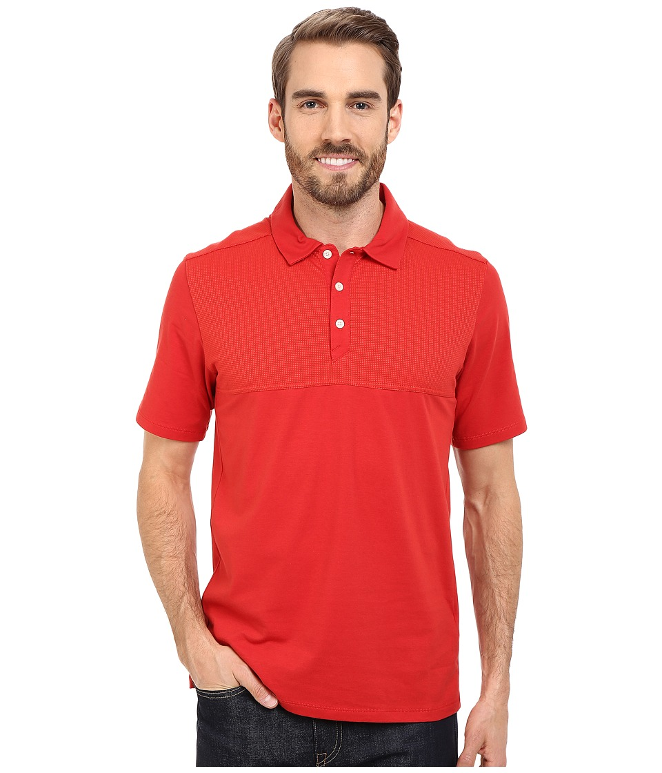The North Face - Short Sleeve Alpine Start Polo (Pompeian Red) Men's Clothing