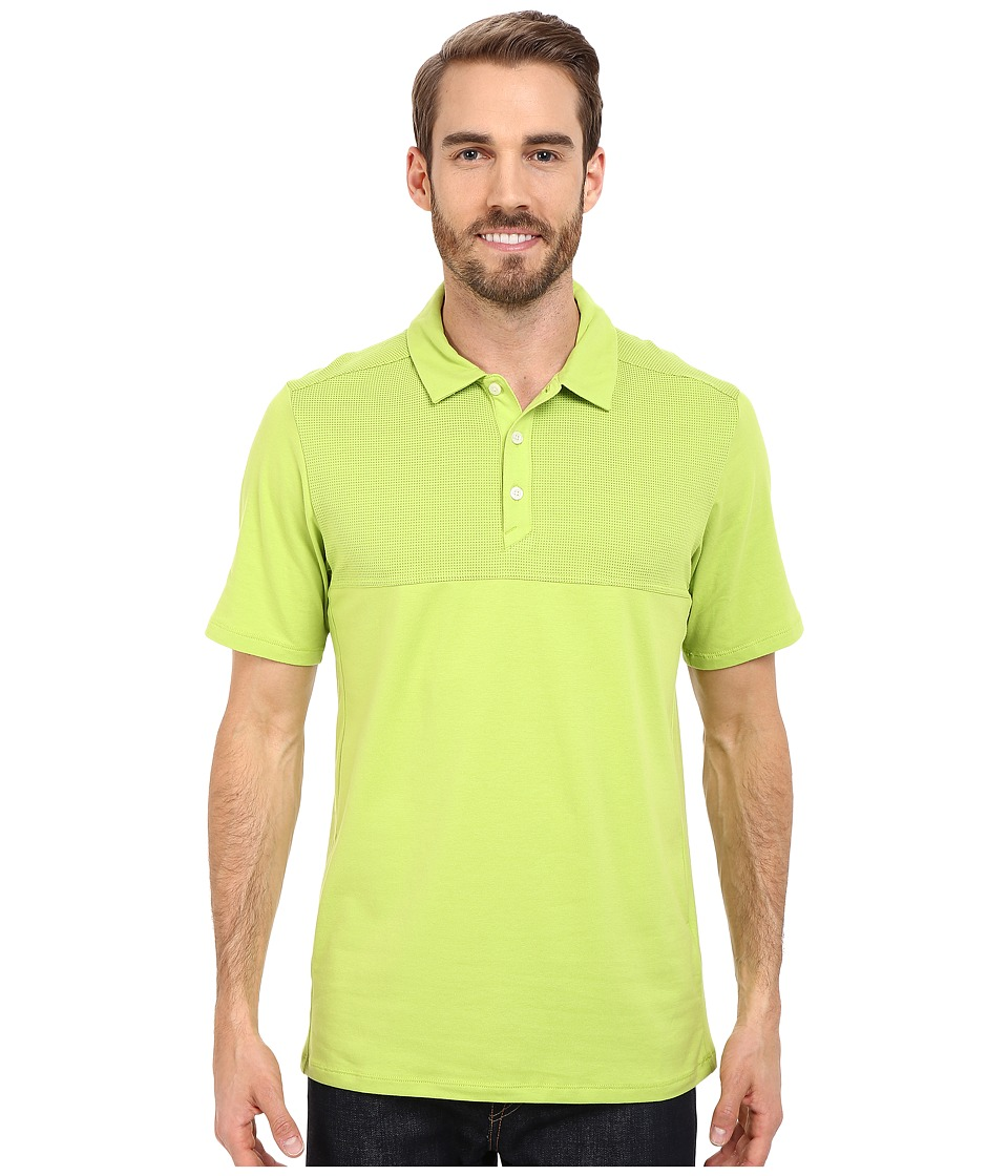 The North Face - Short Sleeve Alpine Start Polo (Macaw Green) Men's Clothing