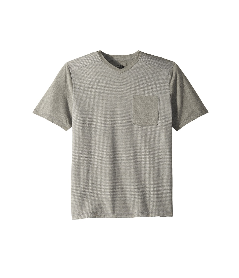 The North Face Short Sleeve Alpine Start V-Neck Tee (TNF Light Grey Heather) Men