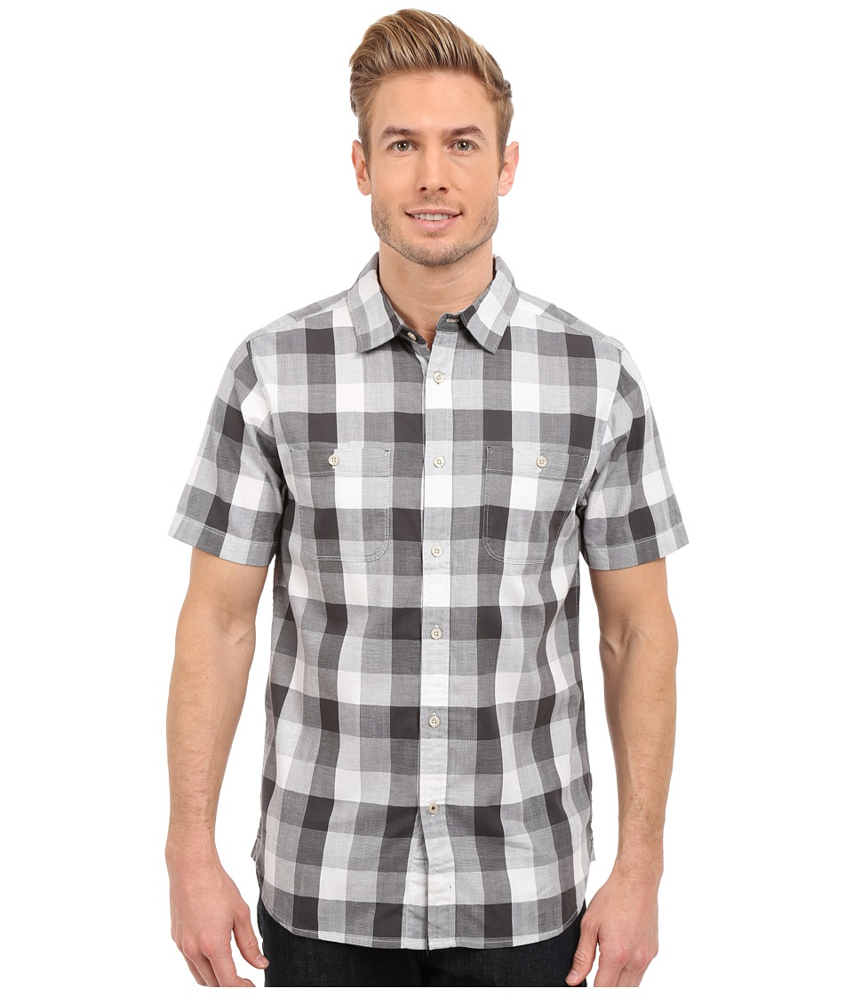 The North Face - Short Sleeve Shadow Gingham Shirt (Asphalt Grey Plaid) Men's Short Sleeve Button Up