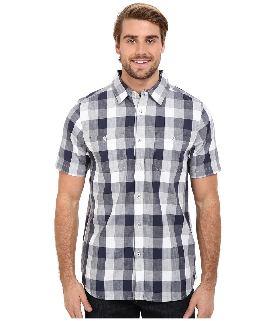 The North Face - Short Sleeve Shadow Gingham Shirt (Cosmic Blue Plaid) Men's Short Sleeve Button Up
