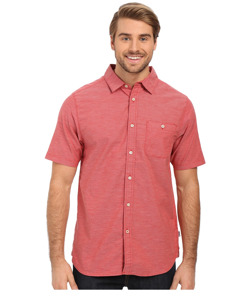 The North Face - Short Sleeve Red Point Shirt (Pompeian Red) Men's Short Sleeve Button Up