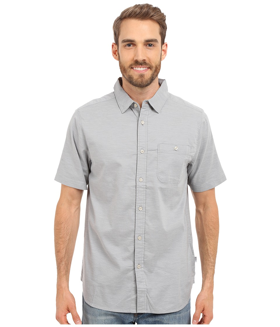The North Face - Short Sleeve Red Point Shirt (Mid Grey) Men's Short Sleeve Button Up