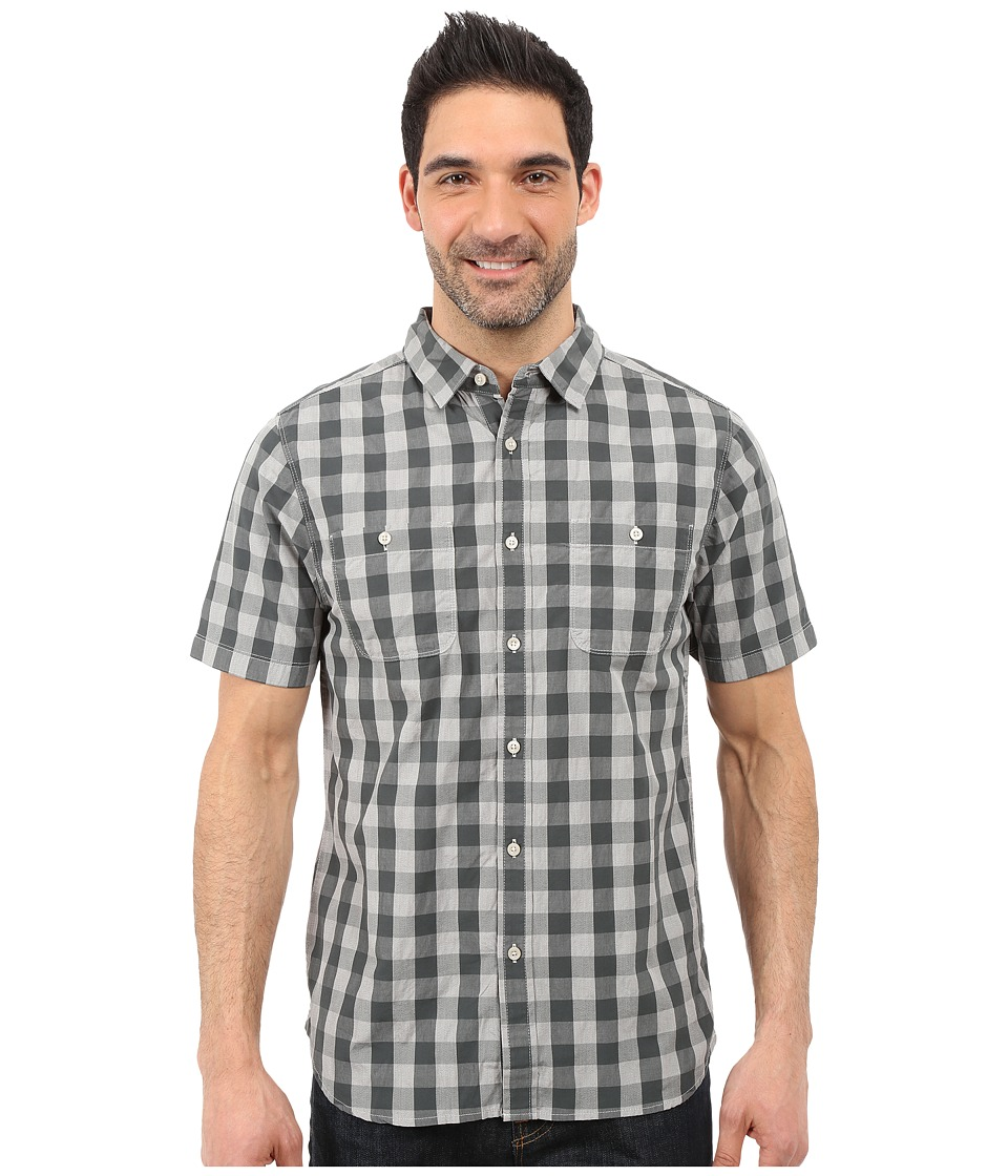 The North Face - Short Sleeve Marled Gingham Shirt (Spruce Green Plaid) Men's Short Sleeve Button Up
