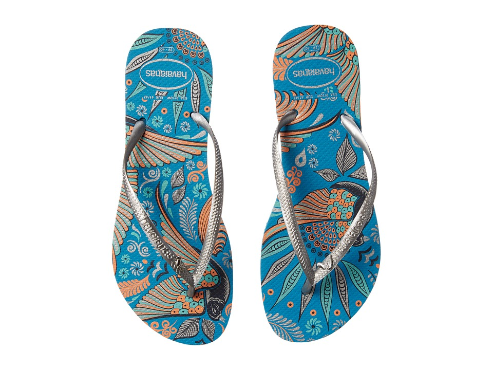 Havaianas - Slim Royal Flip Flops (Turquoise) Women's Sandals