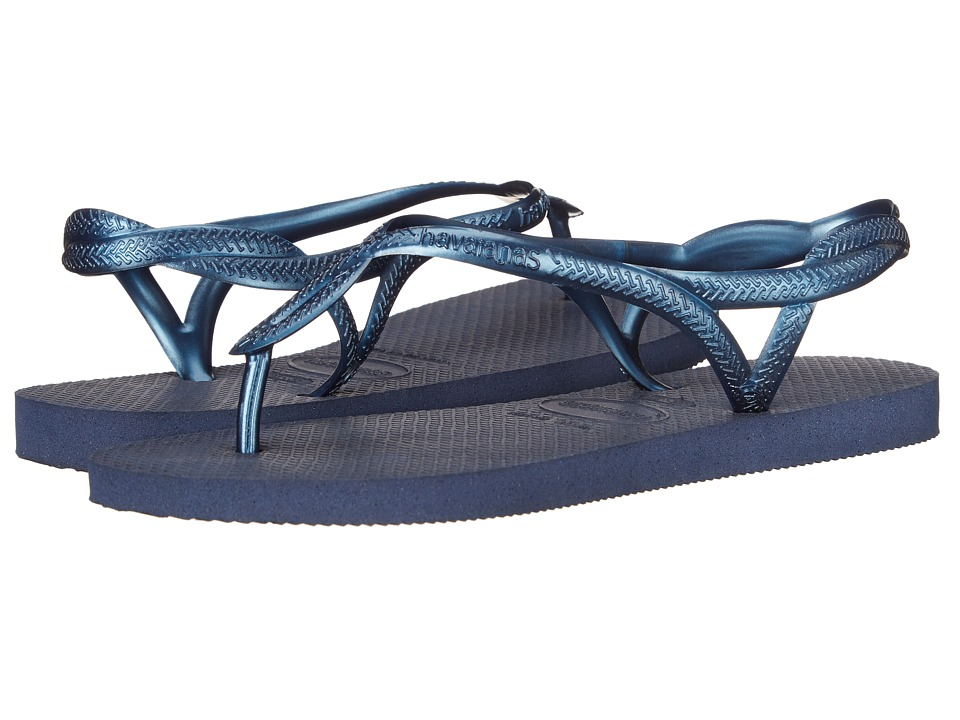 Havaianas - Luna Flip Flops (Navy Blue) Women's Sandals