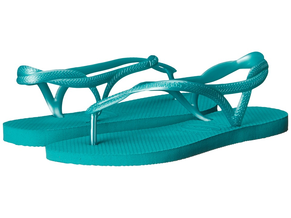 Havaianas - Luna Flip Flops (Lake Green) Women's Sandals