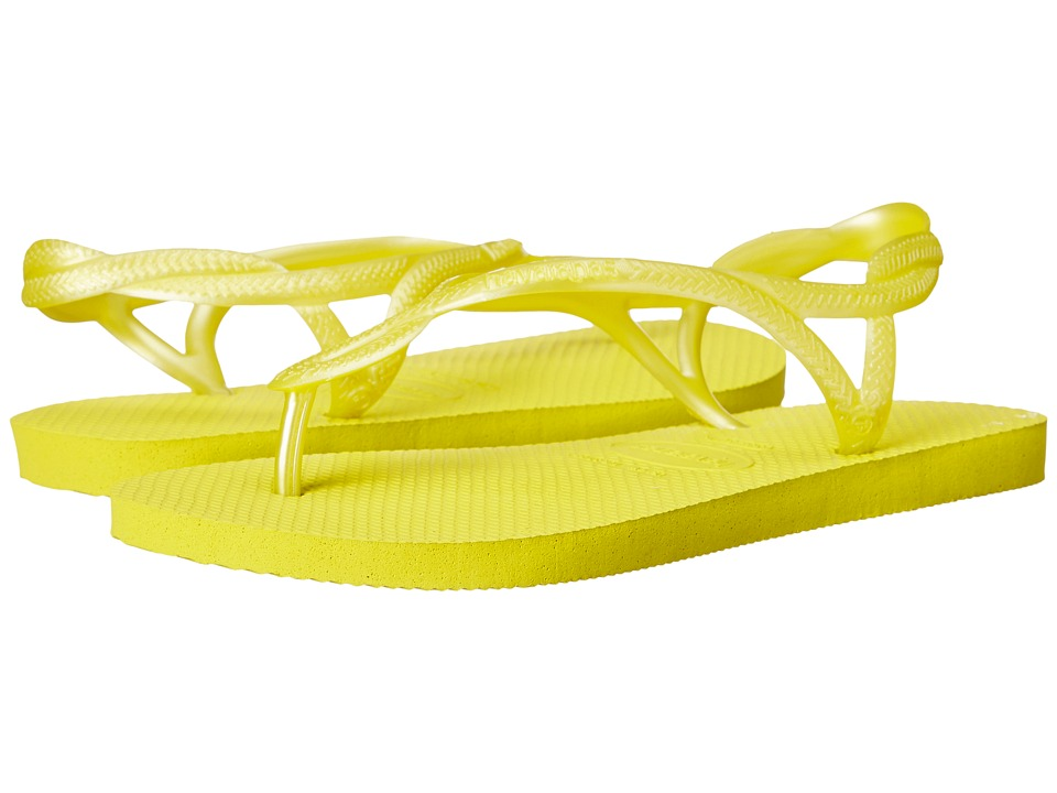 Havaianas - Luna Flip Flops (Neon Yellow) Women's Sandals