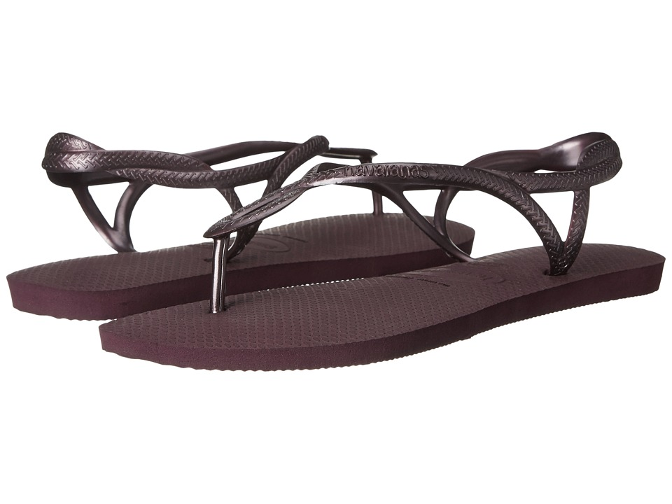 Havaianas - Luna Flip Flops (Aubergine/Aubergine) Women's Sandals