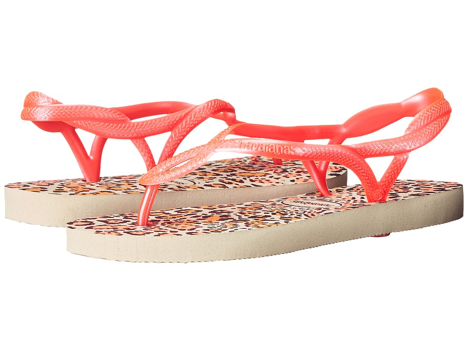 Havaianas - Luna Animals Flip Flops (Beige) Women's Sandals